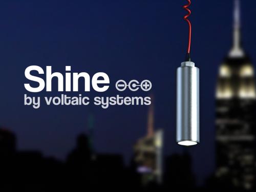 linterna solar shine