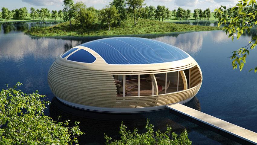 WaterNest 100, una casa flotante 100% solar