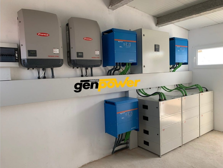 Instalación fotovoltaica aislada con baterías industriales de Litio en el Urgell (Lleida).