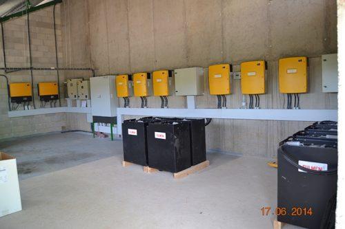 instalación eólica en granja porcina